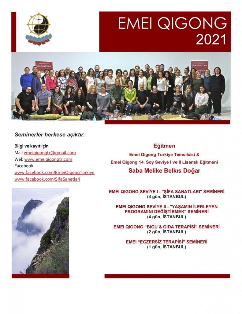Emei Qigong 2021 seminer programı
